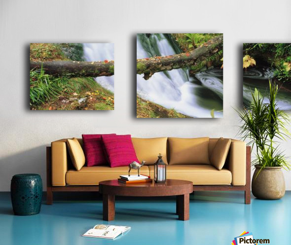 Ireland; Waterfall Canvas print