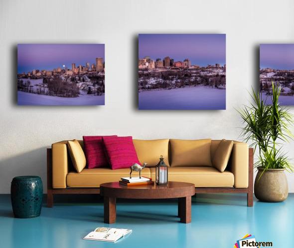 Panoramic City Landscape Canvas print
