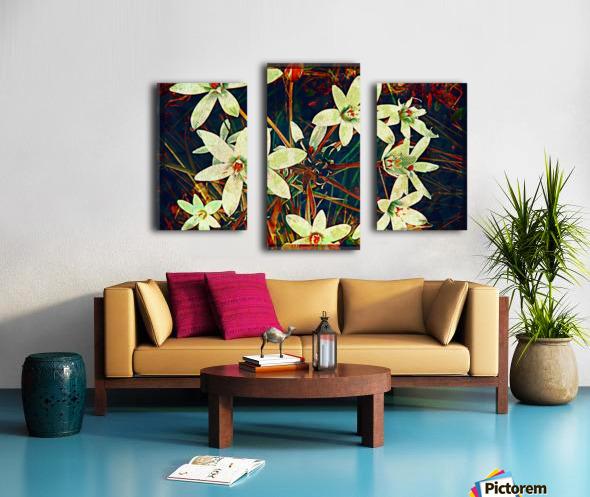 WhiteDarkWallflowers Canvas print