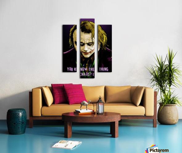 The Joker Says Canvas print