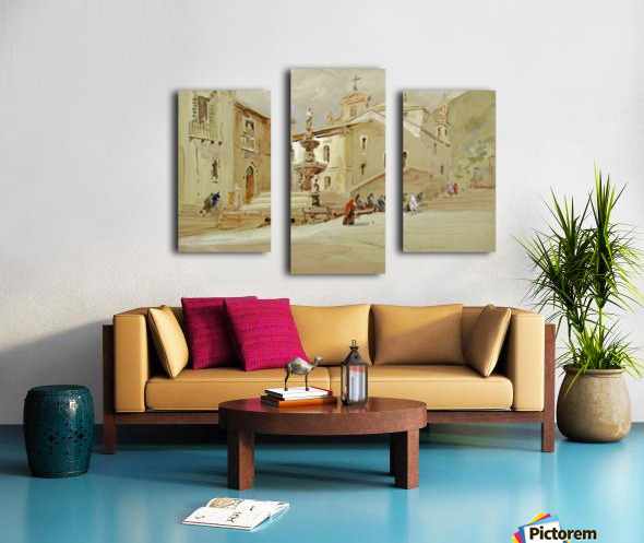 The Fountain, Taormina Canvas print