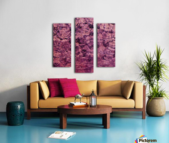 psychedelic grunge painting abstract texture in pink Canvas print