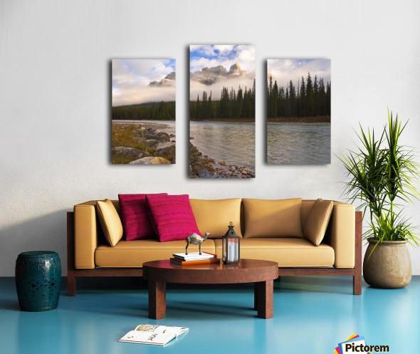 Mountain Landscape, Banff National Park, Alberta, Canada Canvas print