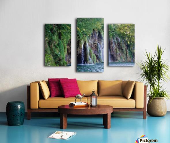 waterfall - Plitvicer lakes-nationalpark Canvas print