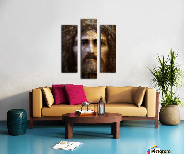 Christ face reconstruction Canvas print