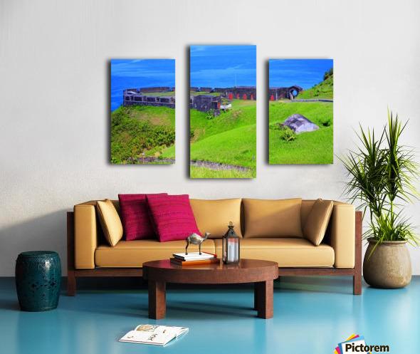 St Kitts Brimstone Hill Bastion Canvas print
