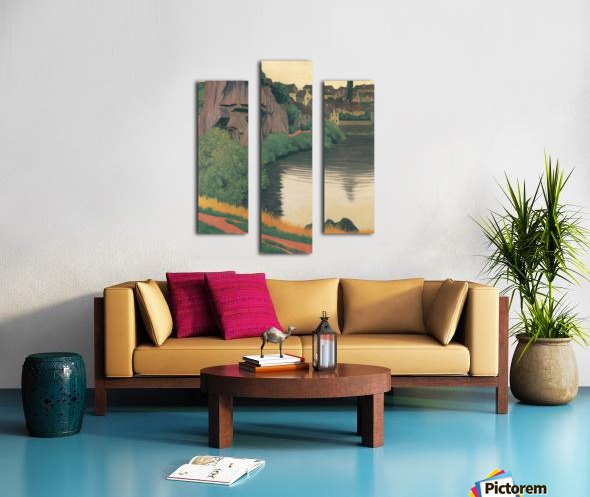 Landscape Semur by Felix Vallotton Canvas print