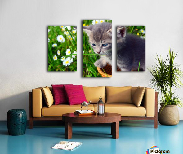 Smell the grass Canvas print