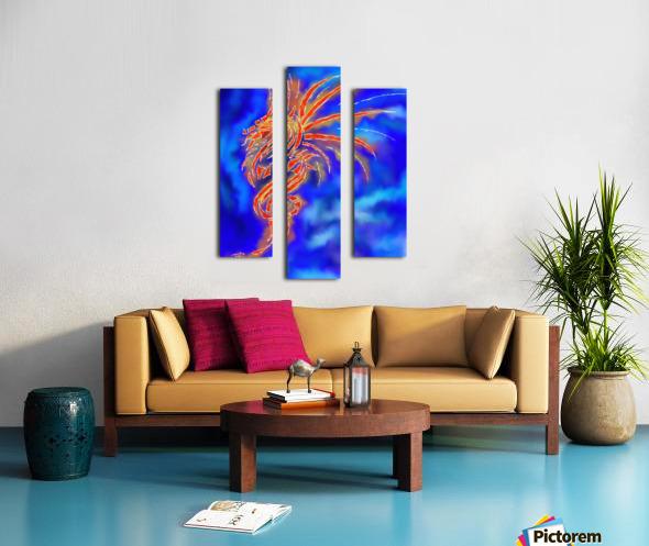 Essemios - furious dragon Canvas print