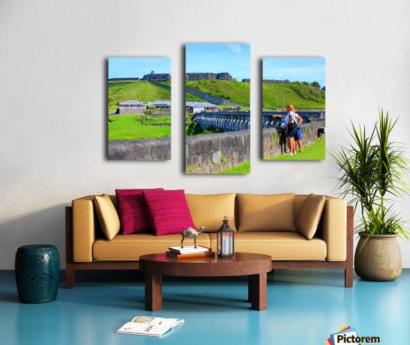 St Kitts Brimstone Hill 2 Canvas print