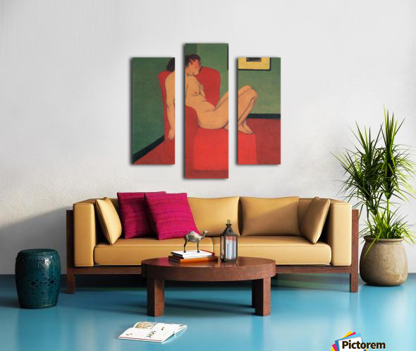 Nude in a Red Armchair by Felix Vallotton Canvas print