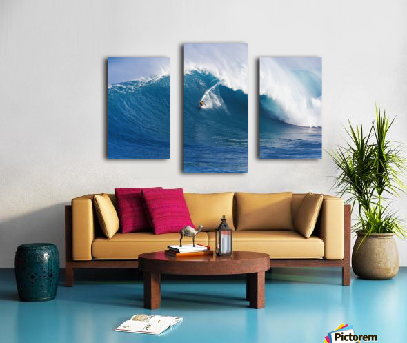 Hawaii, Maui, Peahi (Jaws), Surfer Rides A Giant Wave Canvas print