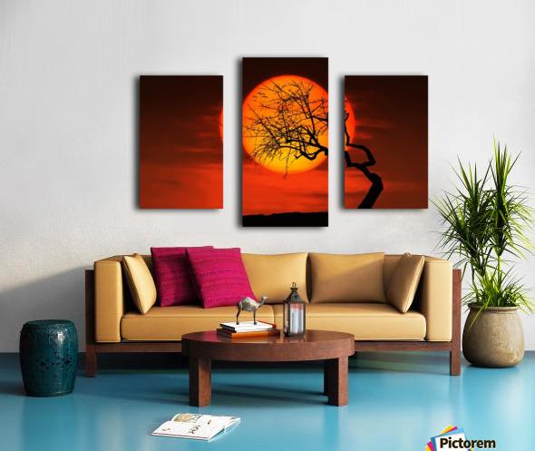 Bird on Sun Canvas print