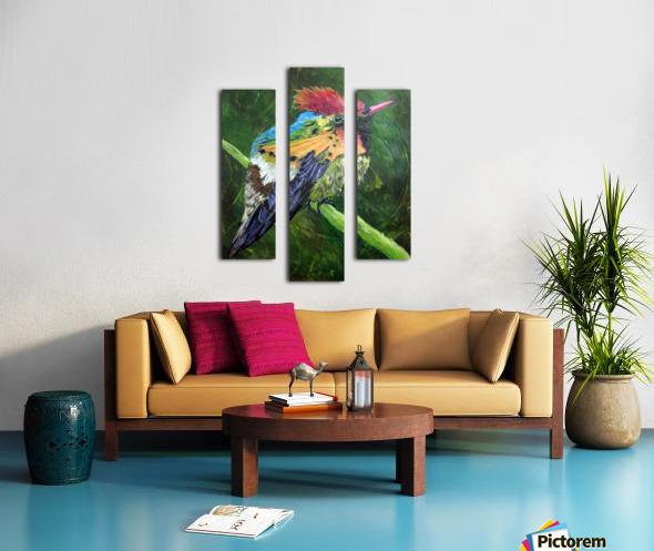 Tufted Coquette Hummingbird Canvas print