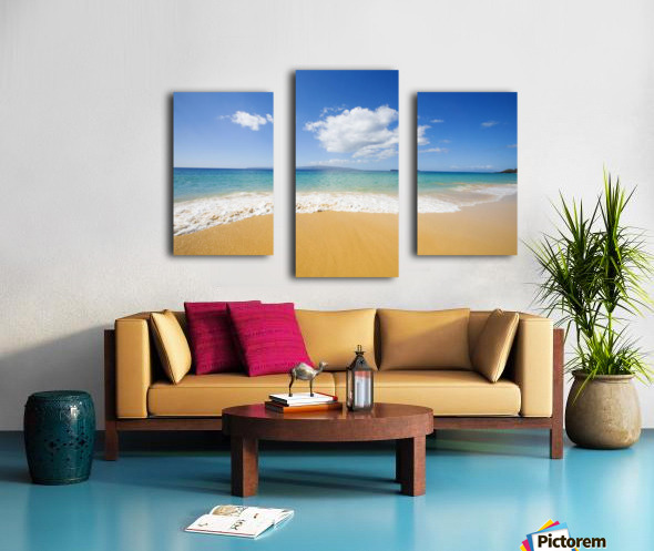 USA, Hawaii Islands, Maui, Big Beach; Makena Canvas print