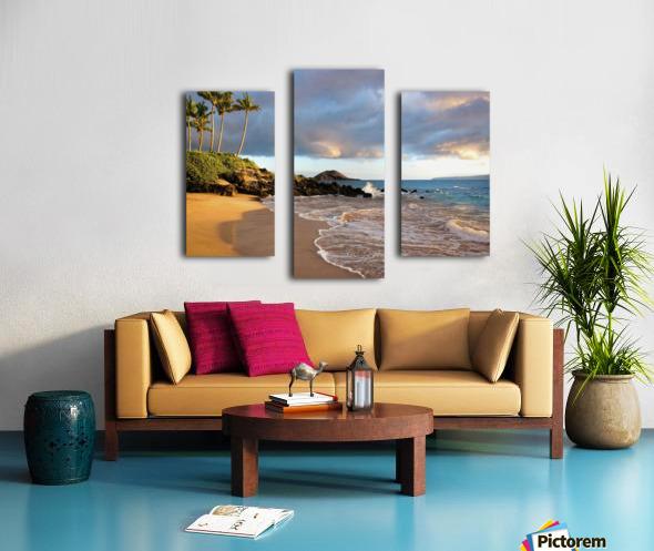 Hawaii, Maui, Makena, Secret Beach At Sunset. Canvas print