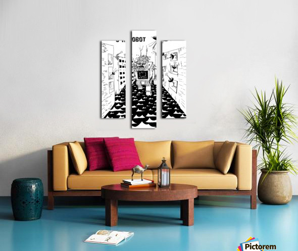 struggle Canvas print