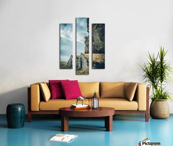 Turf Houses Impression sur toile