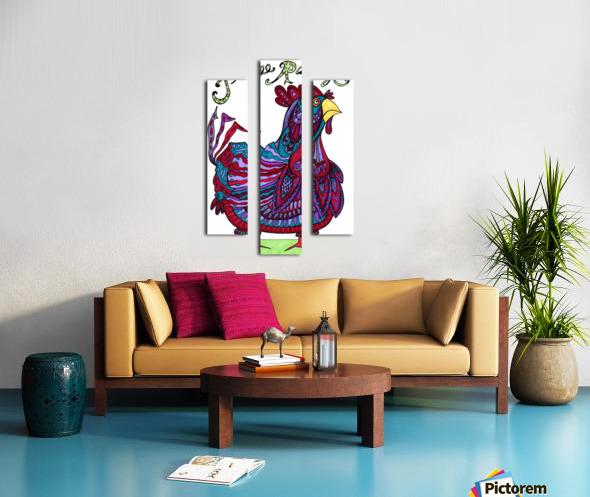 Free Range Edgar Canvas print