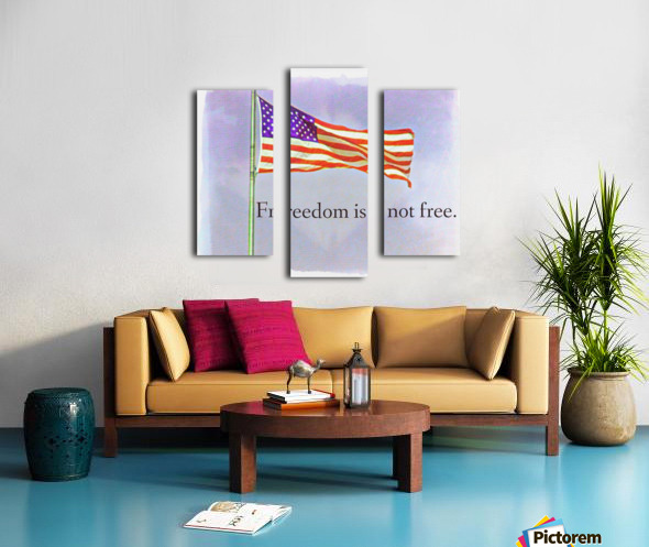 freedomIsnofree Canvas print