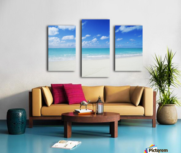 Northwestern Hawaiian Islands, Midway Atoll, Sand Island, Turquoise Ocean And White Sand Beach. Canvas print