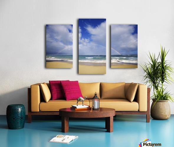 USA, Hawaii, Rainbow at Baldwin Beach; Maui Canvas print