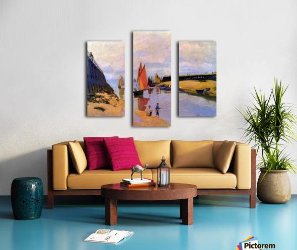 Port of Trouville by Monet Canvas print