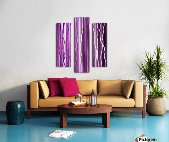Organic Lines Purple Abstract Canvas print