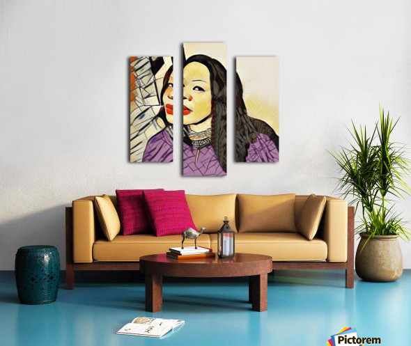 Cindy Violet Canvas print