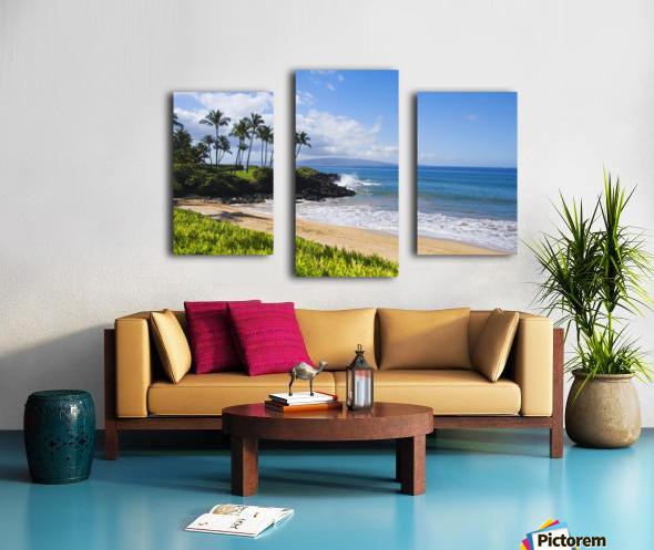 Hawaii, Maui, Wailea, Beautiful Ulua Beach. Canvas print