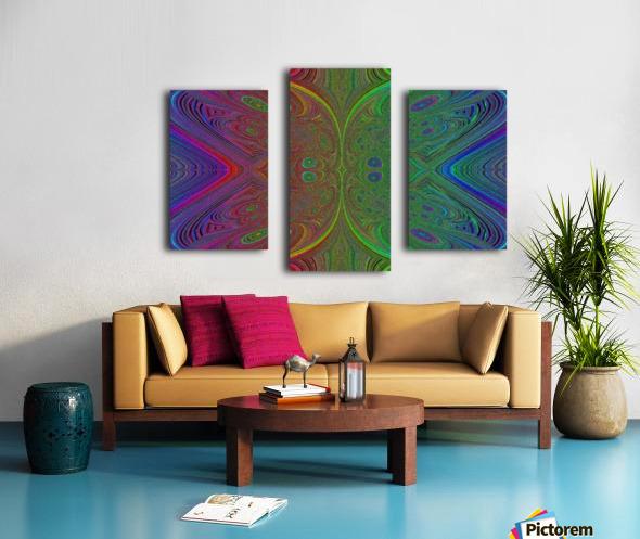 Digital Butterfly Rainbow 1 Canvas print