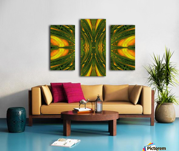 Green Mystical Butterfly 1 Canvas print
