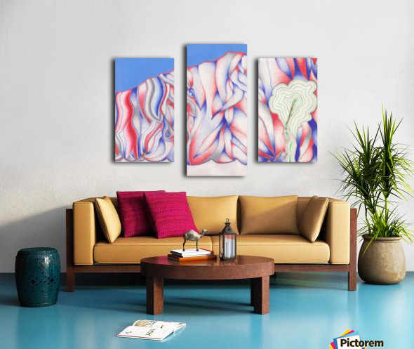 the color of Rain Canvas print