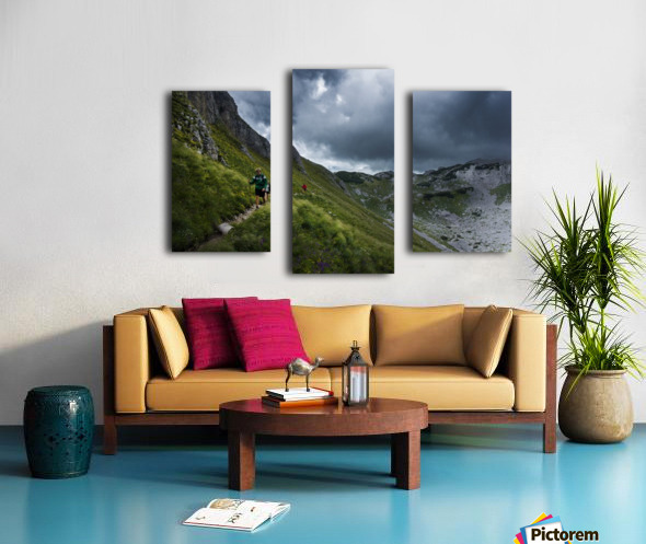 Mountain people  Canvas print