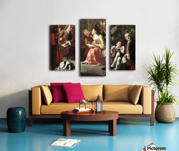 The drawing room 1750 Canvas print