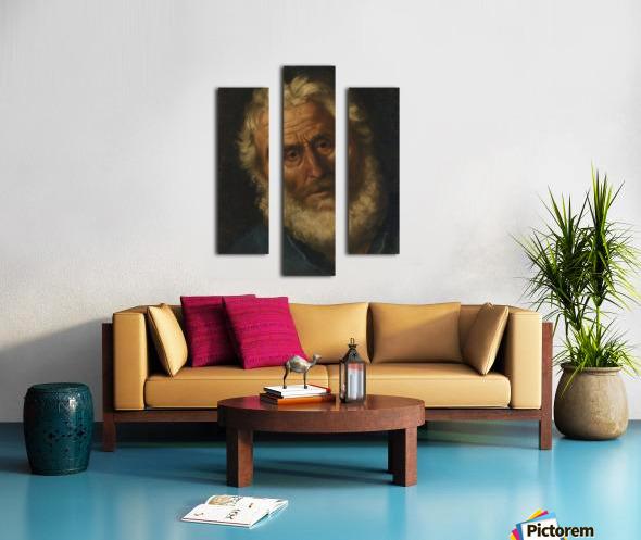 Head of a philosopher Canvas print