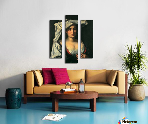 The royal lady Canvas print