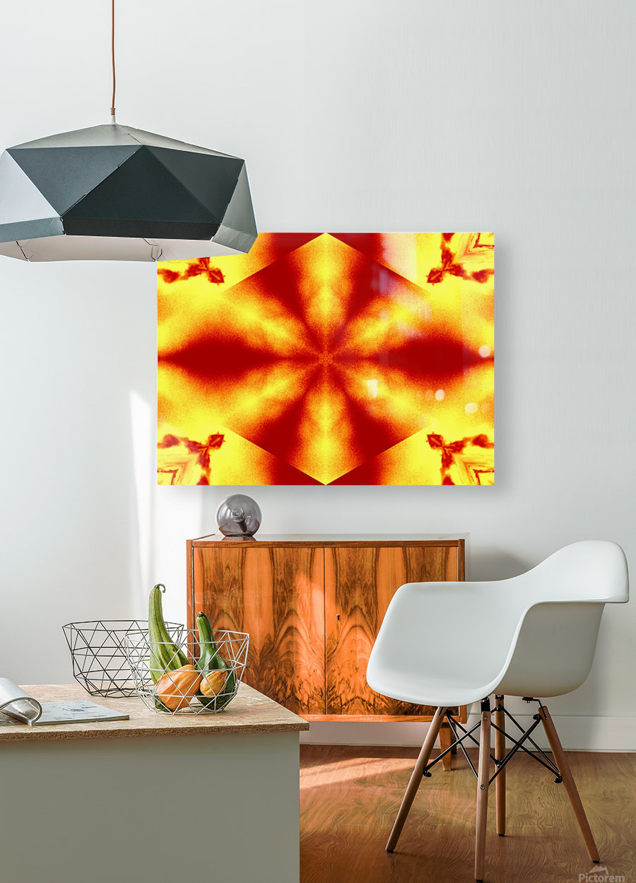 A Flower 12  HD Metal print with Floating Frame on Back