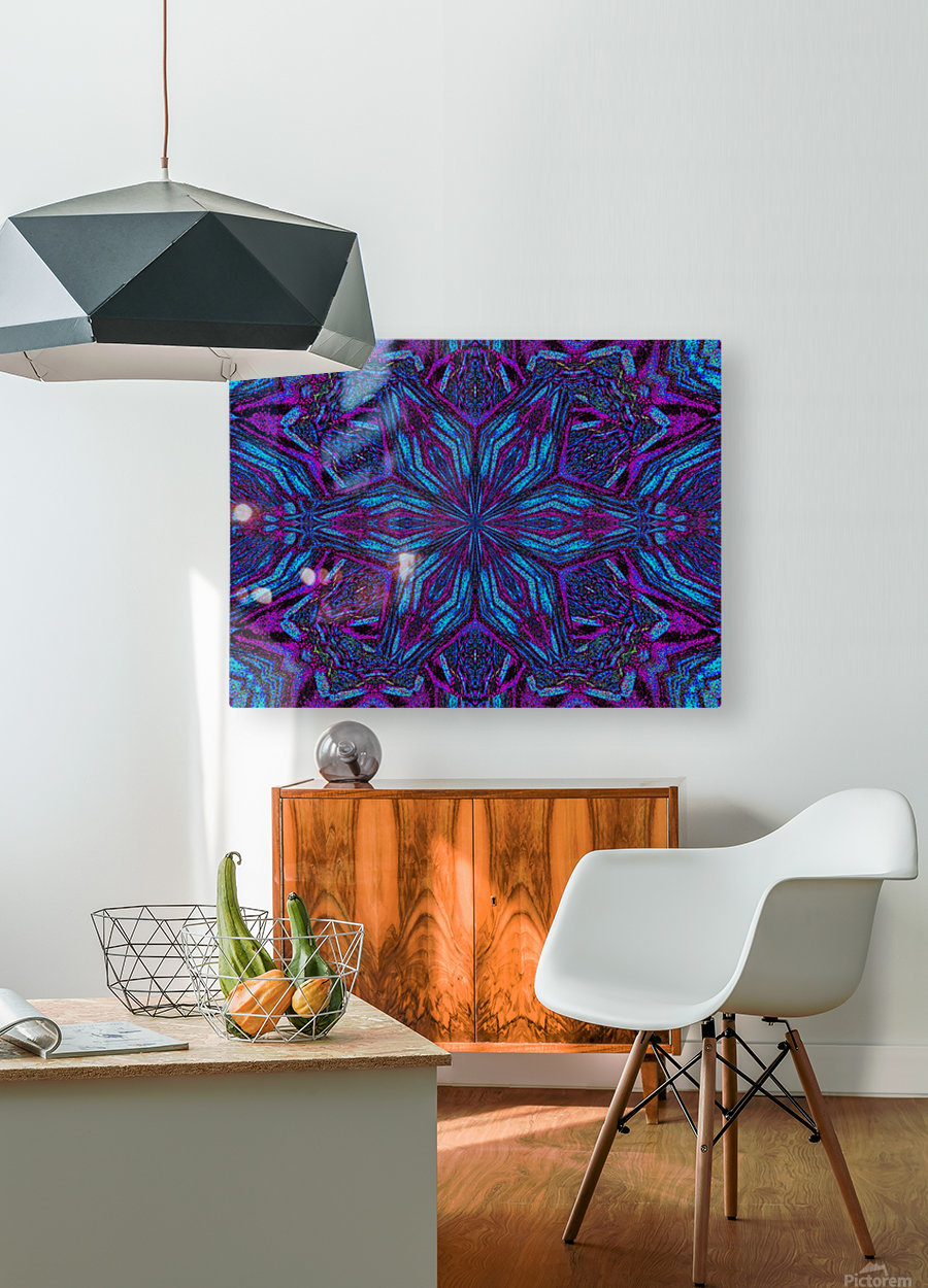 Crystal Flower 3  HD Metal print with Floating Frame on Back