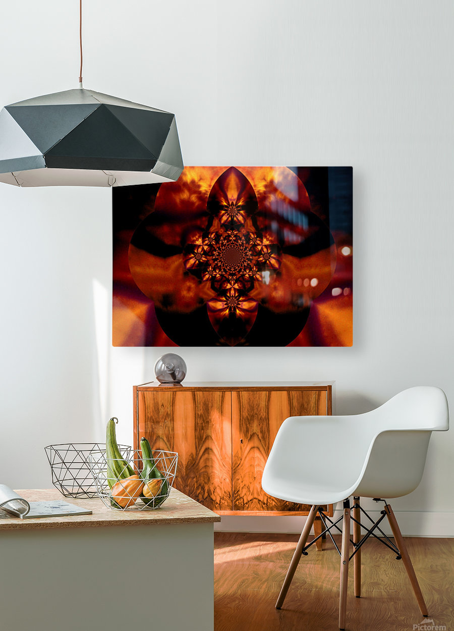 Fire Orchid 1  HD Metal print with Floating Frame on Back