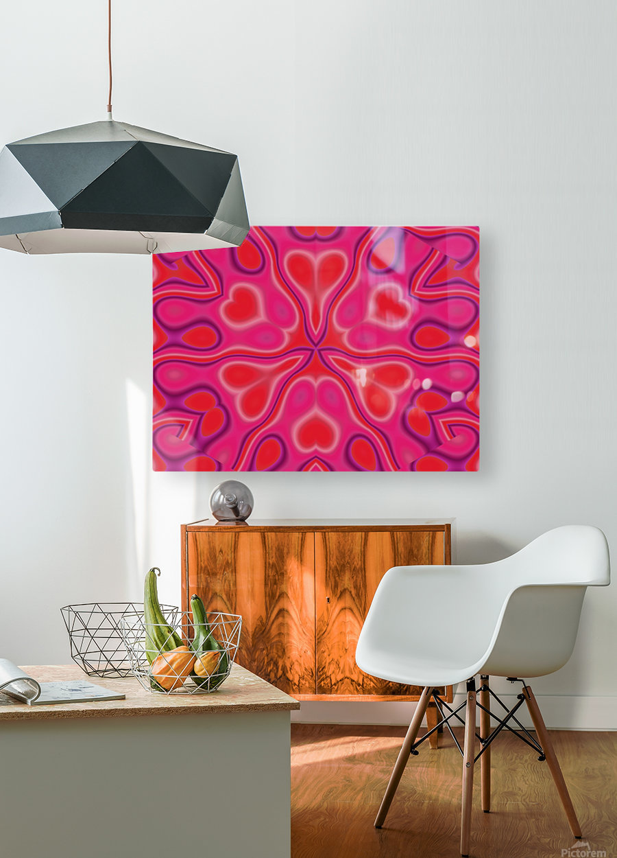 California Wildflower In Pink and Red  HD Metal print with Floating Frame on Back