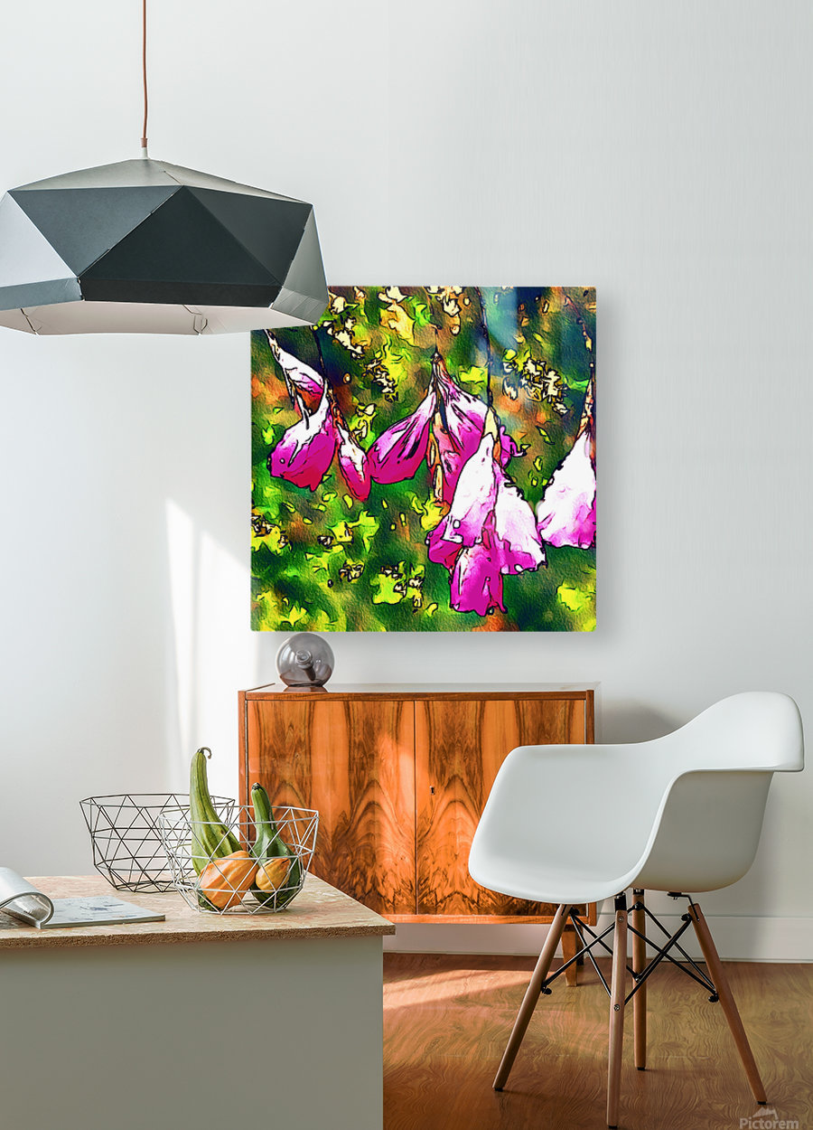 Angels Fishing rod  HD Metal print with Floating Frame on Back