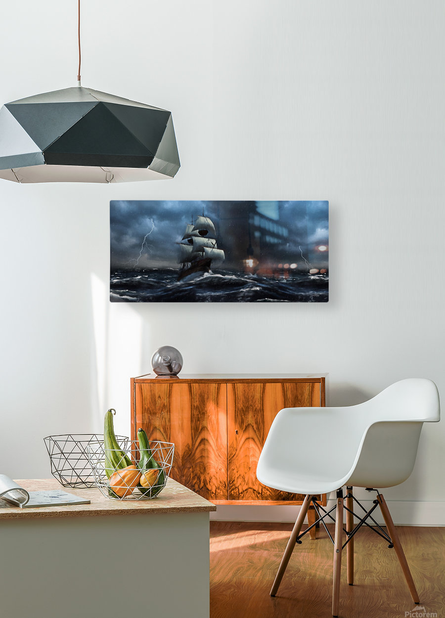 Stormy Seas by Jordan Blackstone  HD Metal print with Floating Frame on Back