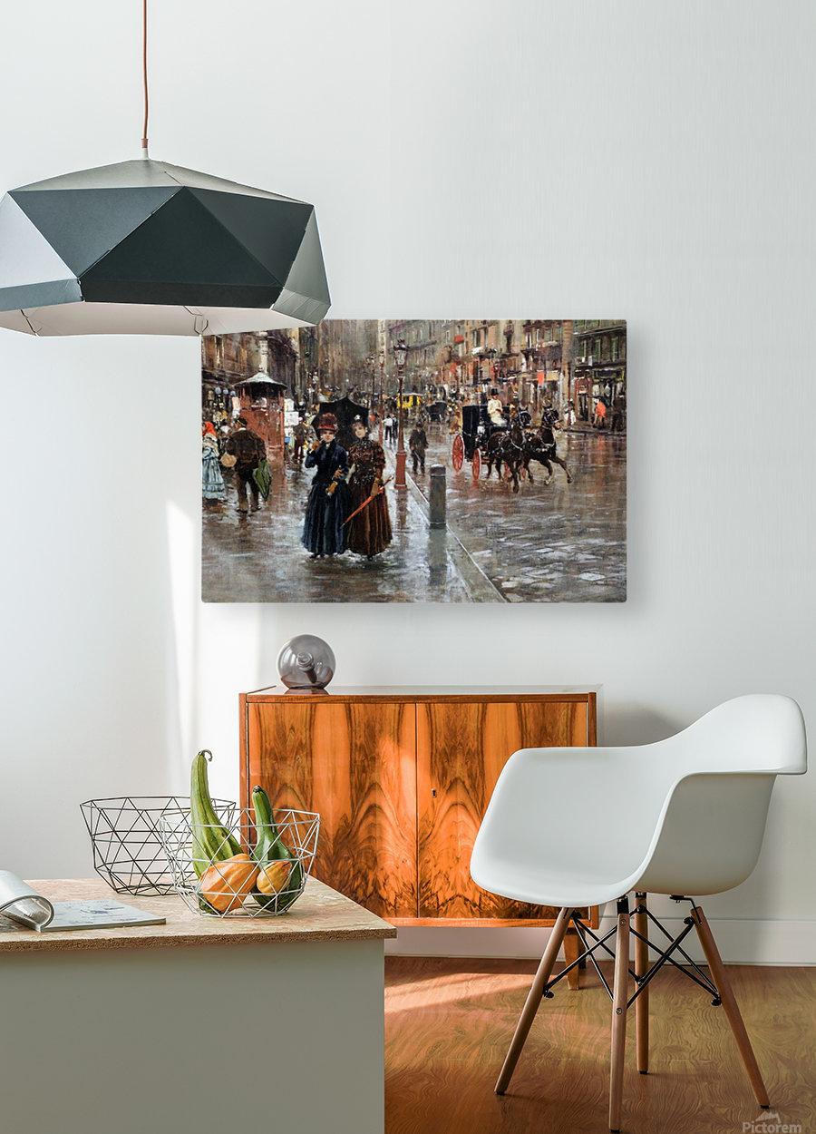 Naples via Toledo, with rain drops  Impression métal HD avec cadre flottant sur le dos