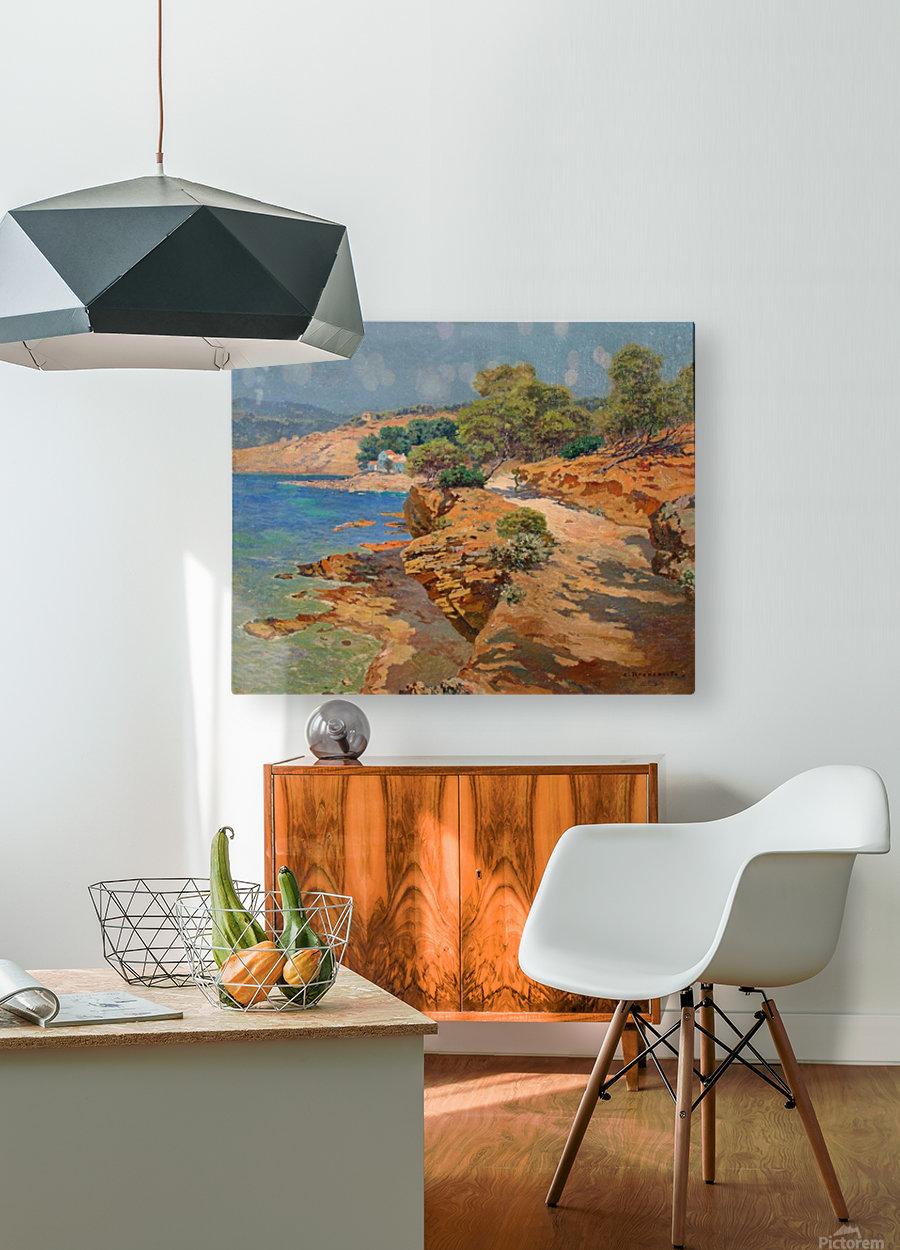 Landscape along the Italian coast  Impression métal HD avec cadre flottant sur le dos