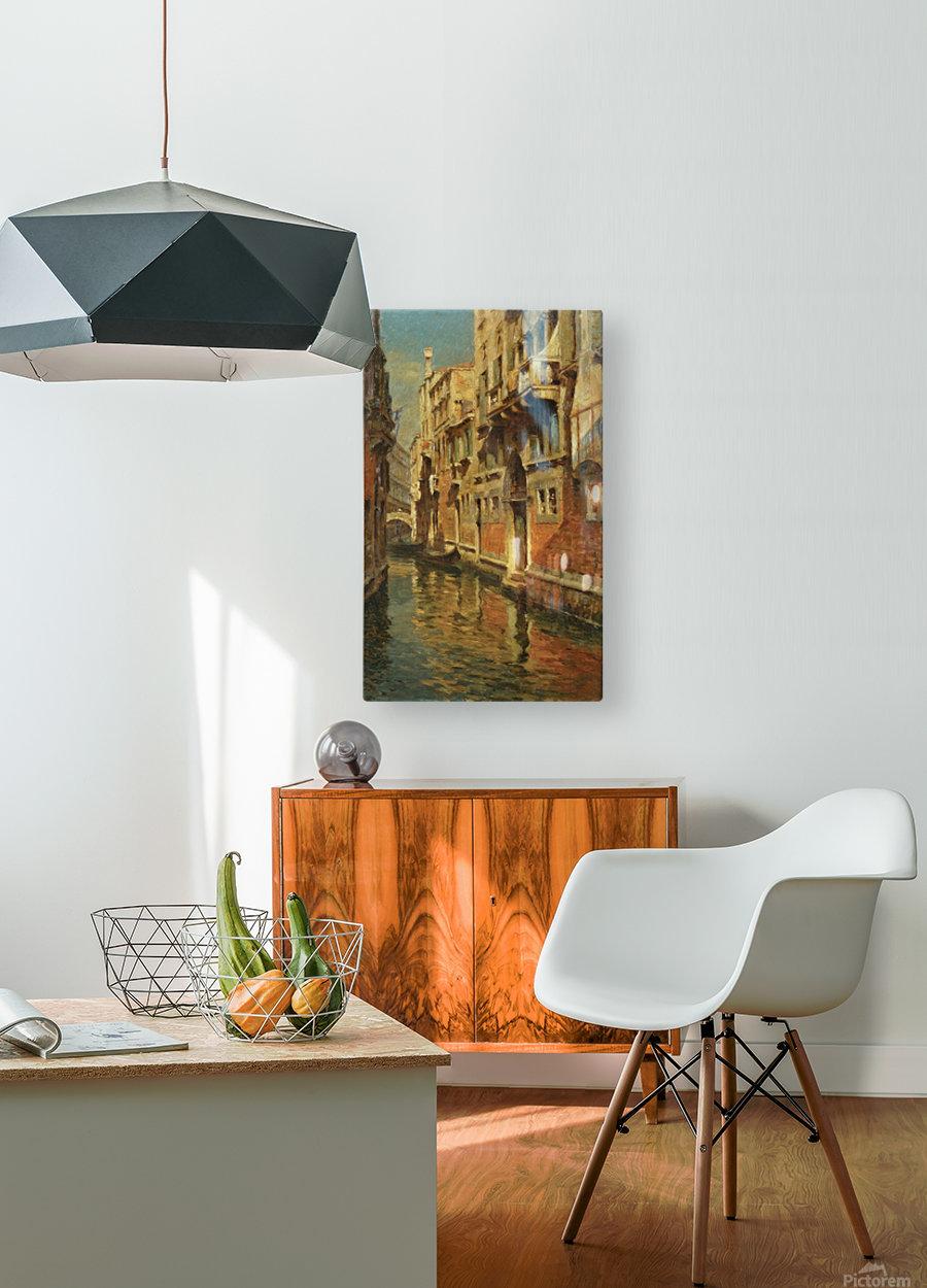 Shining morning in Venice  Impression métal HD avec cadre flottant sur le dos