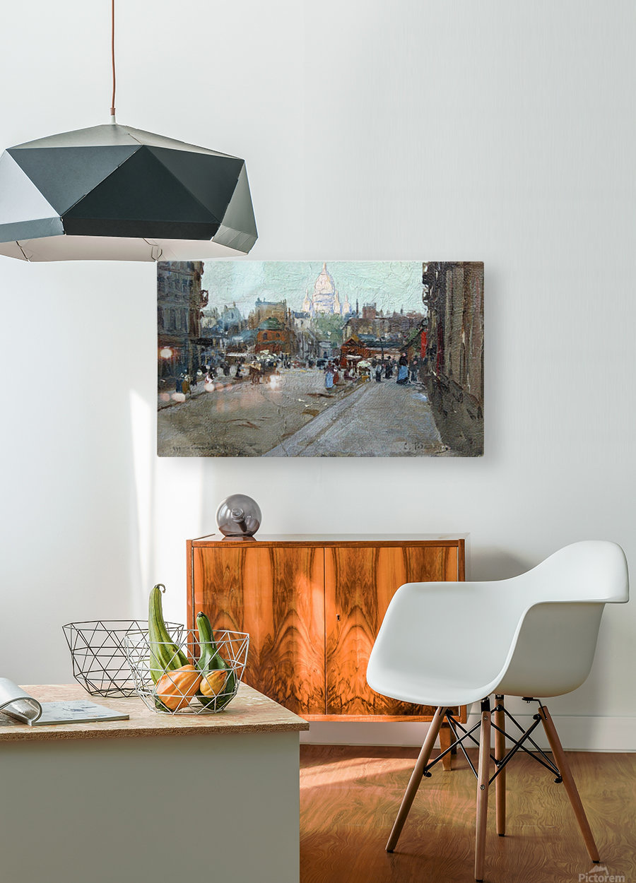 Montmartre  Impression métal HD avec cadre flottant sur le dos