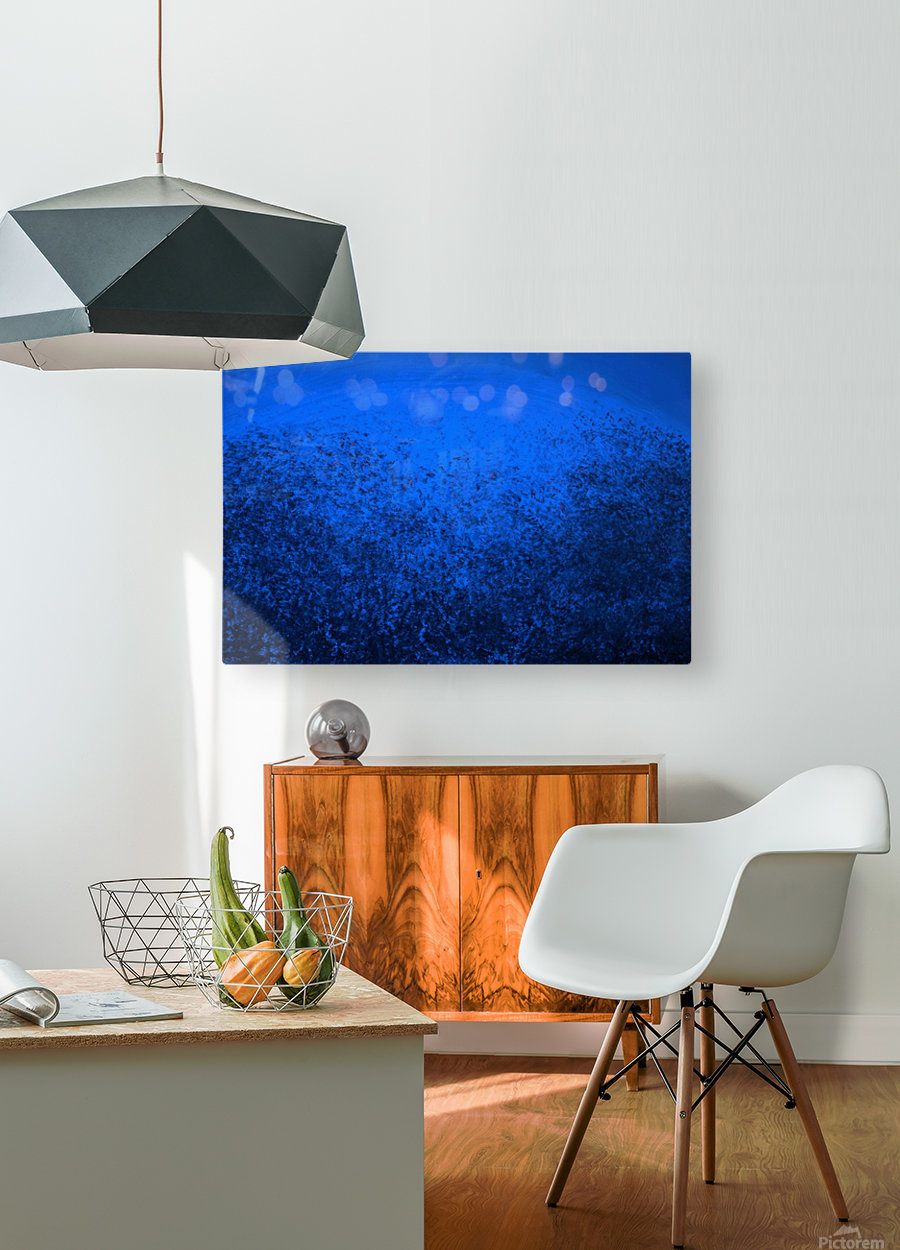 the space  HD Metal print with Floating Frame on Back