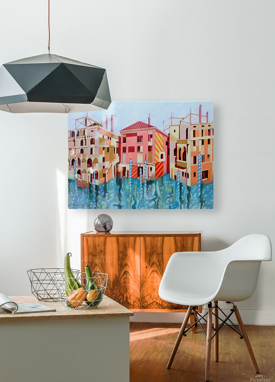 Memory of Venice  HD Metal print with Floating Frame on Back