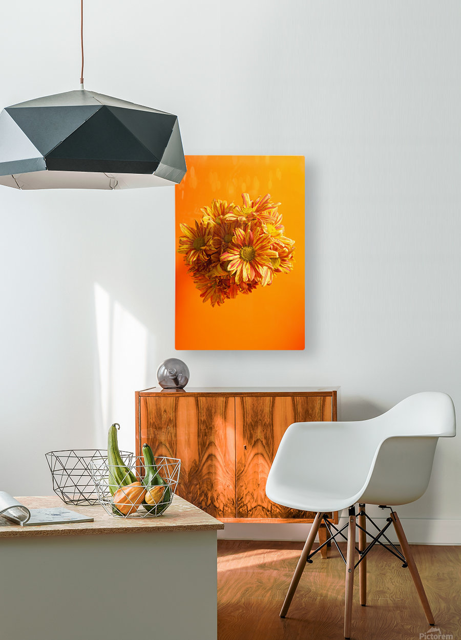 Orange scent  HD Metal print with Floating Frame on Back